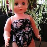 Baby Bathing Suit Black and White F..